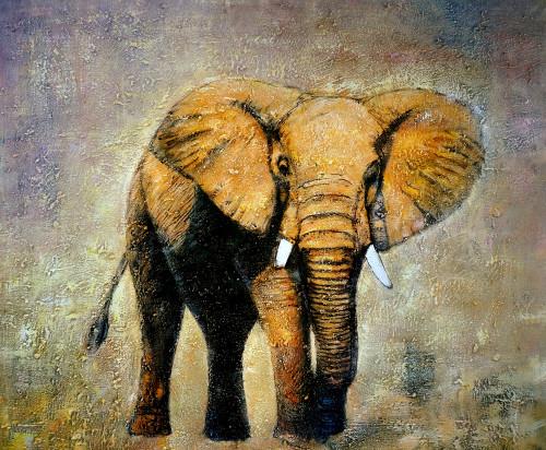 elephant, elaphant painting, baby elephant, elephant in forest, elephant walking pianting, wild animal, wild animal painting
