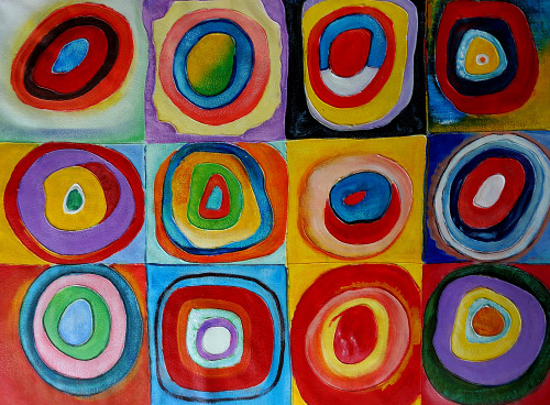 abstract, abstract painting, sky, skyline, sky painting, blue blocks, connected, stroke, abstract stroke painting, circle, round, round objects