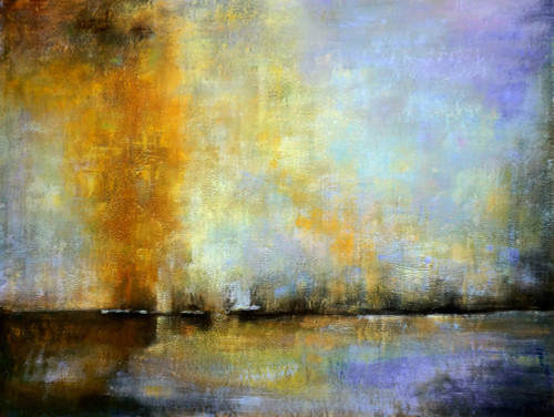 abstract, abstract painting, sky, skyline, sky painting, clouds, cloudy,yellow