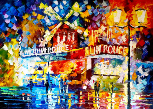 city, cityscape, city at night, colorful city, city painting, people, road, bars, shops