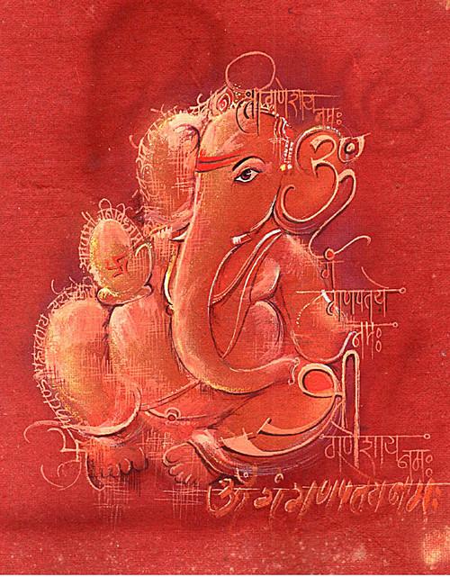 Ganesha,Bappa,Mangal Murti,Bappa,Red Ganesha
