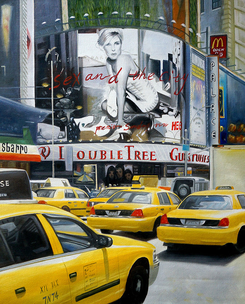 City,New York,Roads,Big Buldings,Cars,Yellow Taxi