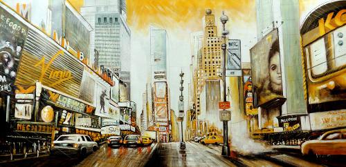 City,New York,Roads,Big Buldings,Cars,Brigde,Times Square
