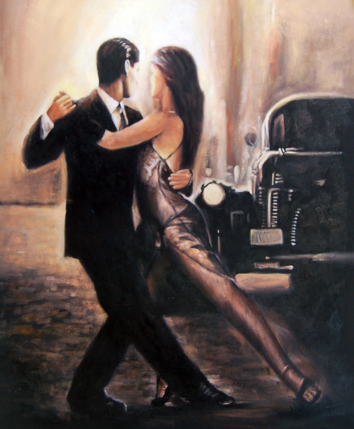 dance, dancing couple, waltz, car, romantic, romantic dance, girl and boy dancing, lady and man dancing, dance painting