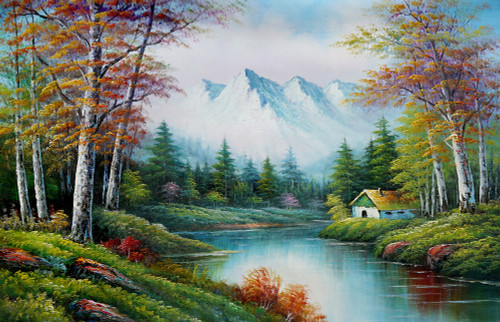 Dream Place - Handpainted Art Painting - 36in X 24in