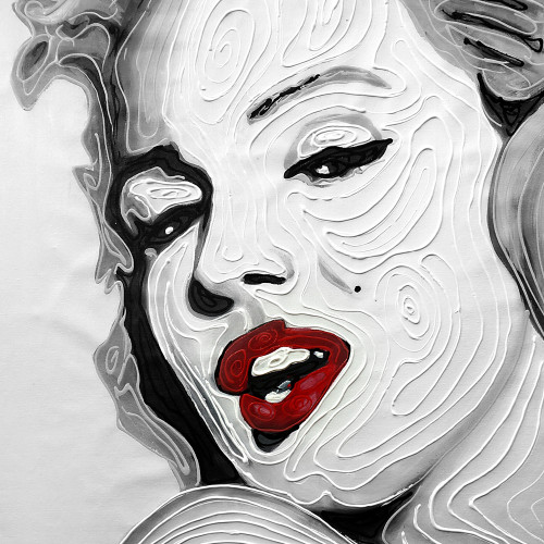 Pop Art,Red Lips,Lip Expressions,Marilyn Monroe,Top Artist