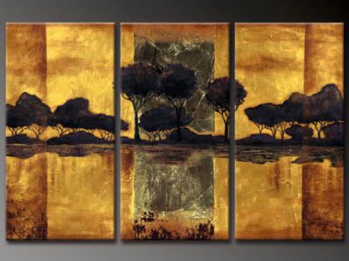 Empire - 48in X 32in (16in X 32in X each X 3Pcs.),RTCSB_43_4832,Oil Colors,Museum Quality - 100% Handpainted,Multipiece Paintings,Tree - Buy Painting Online in India.
