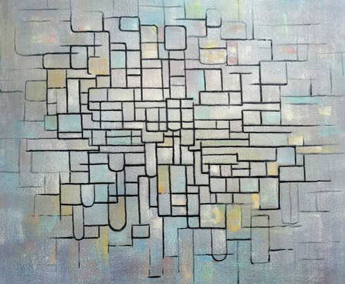 absatract, abstract painting, lines, strokes, puzzle,puzzeled