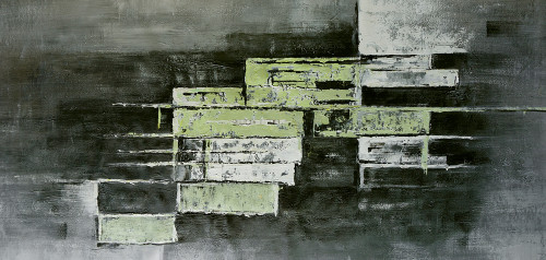 abstract, abstract painting, green abstract, squares, square