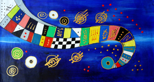 abstract, abstract painting, multi color abstract, spread color, mixed colors, blue abstract,, texture, planets, roller coaster