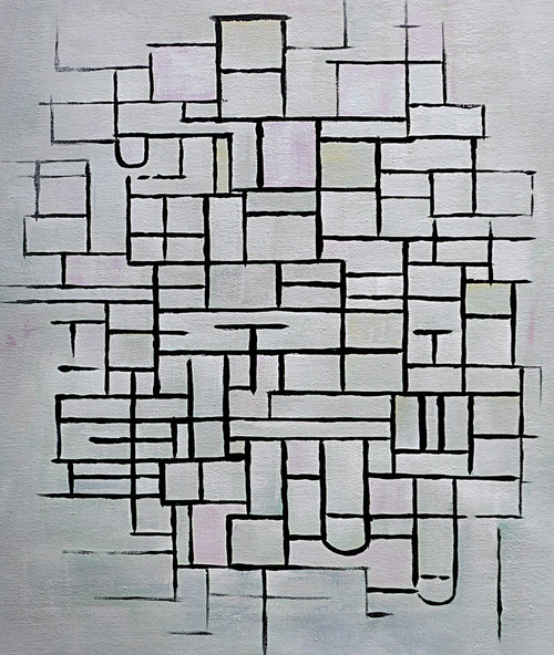abstract, multi color abtract, white abstract, lines, strokes, puzzle, maze, square