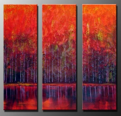 The Other Side - 36in X 36in(12in X 36in X each X 3Pcs.),RTCSB_51_3636,Oil Colors,Museum Quality - 100% Handpainted,Multipiece Paintings,Modern art - Buy Painting Online in India.