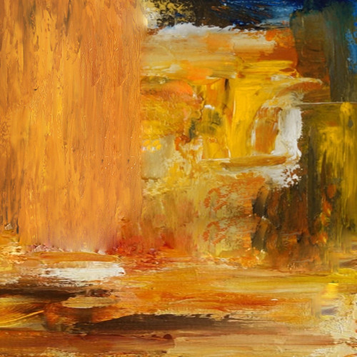 AbsLandscape - 32in X 32in,31ABT623_3232,Yellow, Brown,80X80,Abstract Art Canvas Painting