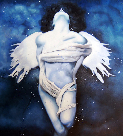 lady, girl ,woman, painting of a woman, woman painting, beautiful, beauty, angle, white angle, angle with wings, winged angel