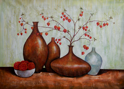 Ensemble 8 - 36in X 24in,RAJEAR73_3624,Acrylic Colors,Pottery,Vase,Beautiful Flower in Vase  - Buy Paintings online in India