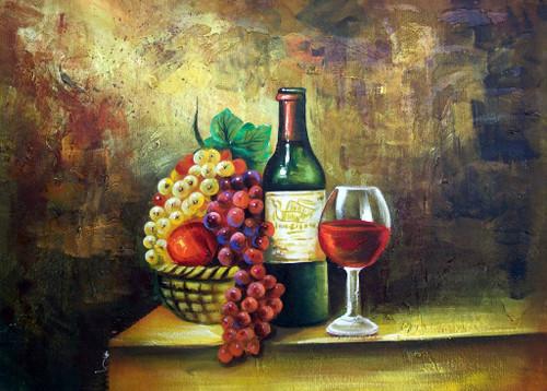 still life, wine glass, wine, bottle of wine