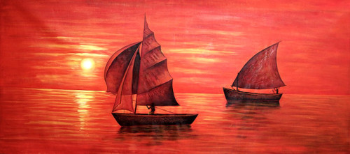 Natur,Boat,Two Ships,Scenery,Evening Light,Shaded For Red,Sun