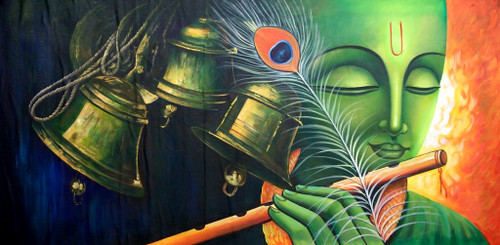 Krishna,Green Krishna,Peacock Feather,Krishna with Bells,Krishna with Flute