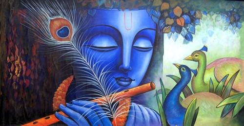 Krishna,Green Krishna,Peacock Feather,Krishna with Flute,Blue Krishna,Krishna with peacock pair