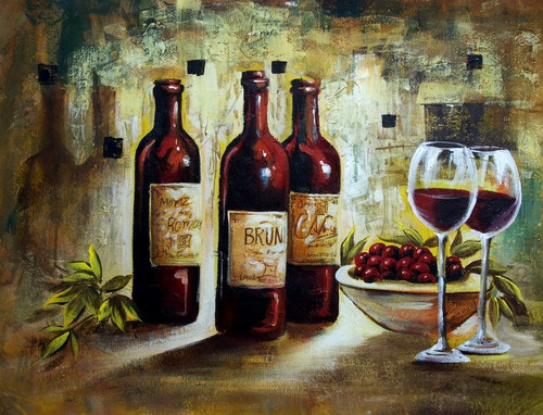 Wine, glass of wine, wine bottle, grapes, still life, wine bottles with wine glass