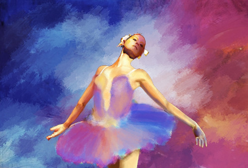 ballet dance ,Red Background,Purple Dress Dancer,Dance