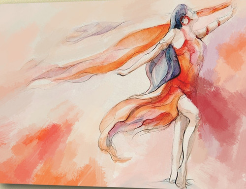 ballet dance ,Red Background,Red Dress Dancer,Dance,