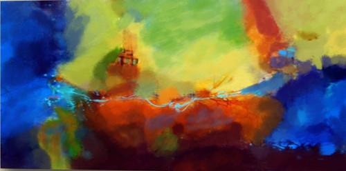 31Big92,Color Spalsh,Multi Color Art,Colorful Life,Blue,Red,Orange Colors