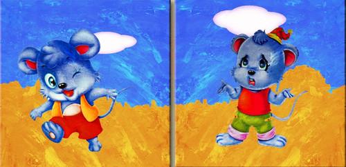 Kids Corner,Kids Painting,Cartoons,Cartoons,Characters,Two Rats,Animals