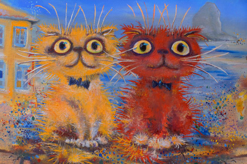 cat, kittens, little kittens, two cats, red cat, orange cat, cute cats