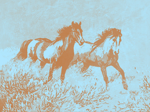 Majestic Horses - 40in X 30in,28Animal18_4030,Community Artists Group,Canvas,Oil Colors,Beautiful,Museum Quality - 100% Handpainted,Modern Art,Animal,Horse,Riding Horses,Race - Buy Painting Online in India.