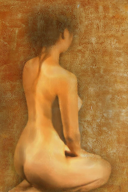 Nude Painting,Nude Lady,Women,Model,Pose,Bare Body