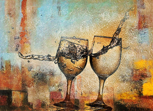 Drink,Wine,Old and Gold Wine,Lets Cheers,Still Life,Wine Glass,Port Wine,Wine For Two