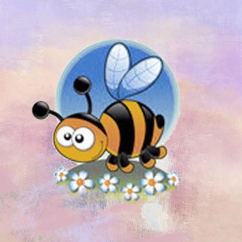 Honey Bee,Honey Comb,Honey Bee with White Flowers