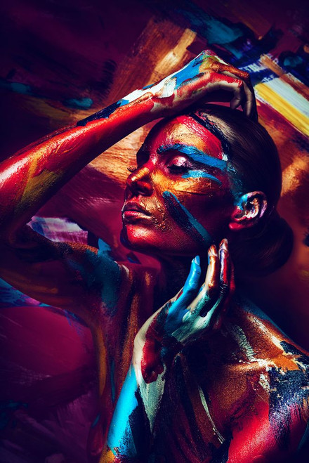 girl, lady, woman, paint, girl painted, nude, nudo, nude girl, girl with color