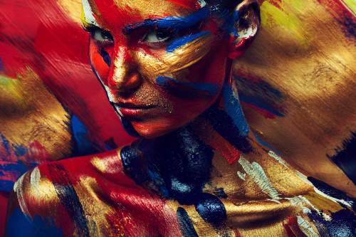 girl, lady, woman, girl with colors, nude, nude girl, nudo, multi color