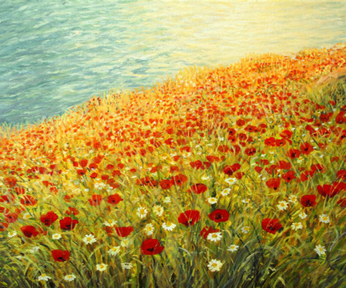 Landscape,Nature,Orange,Red  Shades of Nature,Tree,River,Spring Landscape,Red Flowers,Scenery