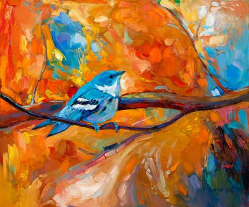 birds, bird, little bird, bird on tree, orange leaves, tree  , orange tree, bird on orange tree