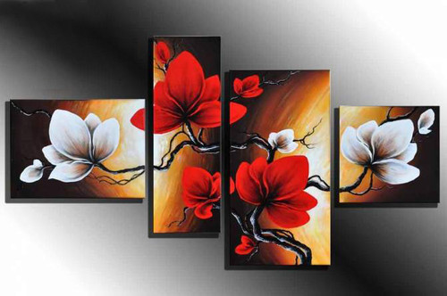Monsoon Bloom ,RTCSB_62_6848,Oil Colors,Museum Quality - 100% Handpainted,Multipiece Paintings,Tree - Buy Painting Online in India.
