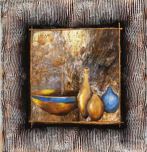 31still life,Vase,Pot,Golden Art,Tecture,Blue Vase,Gold Vase