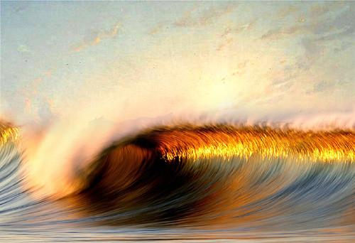 seascape, waves, golden waves, waves in sea, high tide