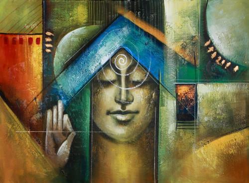 Buddha,Peace,Murlidhar,Peace,Green Shade Buddha