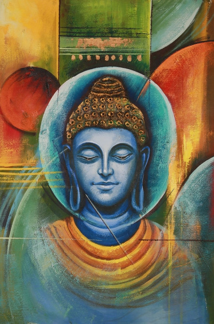 Buddha,Peace,Murlidhar,Peace,Blue Shade Buddha