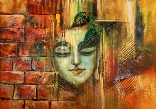 Buddha,Peace,Murlidhar,Peace,Brown Shade Buddha ,Blue Bird