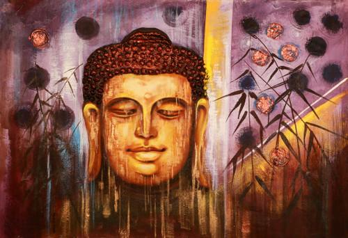 Buddha,Peace,Murlidhar,Peace,Yellow,Brown Shade Buddha