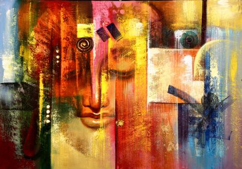 Buddha,Peace,Murlidhar,Peace,Red,Pink Shade Buddha