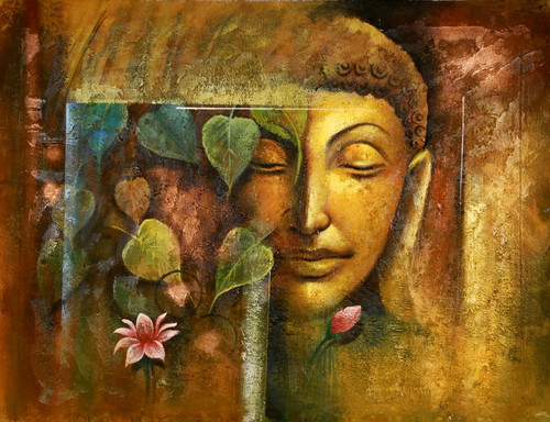Contemplation - Buddha Meditates,Buddha,Buddhism,Peace,Meditation,Pink Lotus