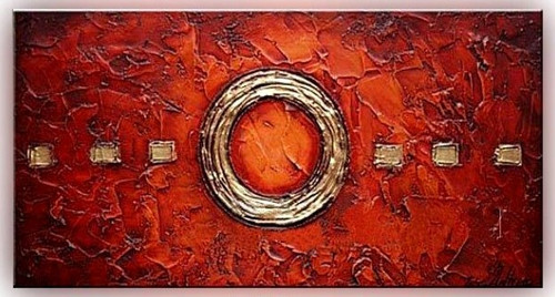 The Mystic Circle - 48in x 24in,RTCSC_02_4824,Symbol,Circular Design,Oil Colors,Golden Circle,Museum Quality - 100% Handpainted Buy Painting Online in India.
