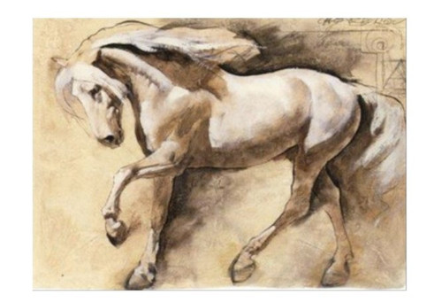 Antique Look Horse Art - 40in x 32in,RTCSC_04_4032,Horse,Horses,The Winner,Oil Colors,Museum Quality - 100% Handpainted Buy Painting Online in India.