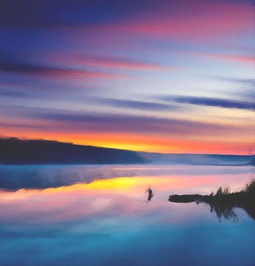 landscape, seascape, sunset, sunrise, sunset near sea, sea, baot, boat in sea, sunrise near sea