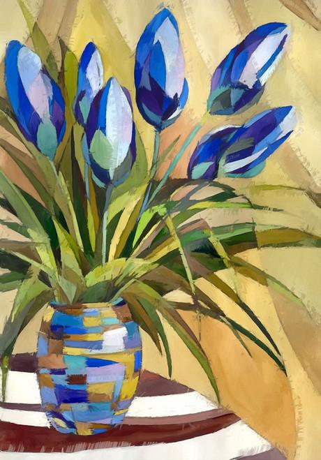 flower, flower vase, vase, tulips, purple tulips, vase with purple tulips